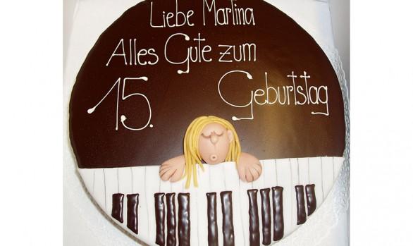 Geburtstagstorte mit Klavier Bäckerei Burgauner