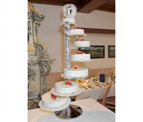 7stöckige Hochzeitstorte Bäckerei Burgauner