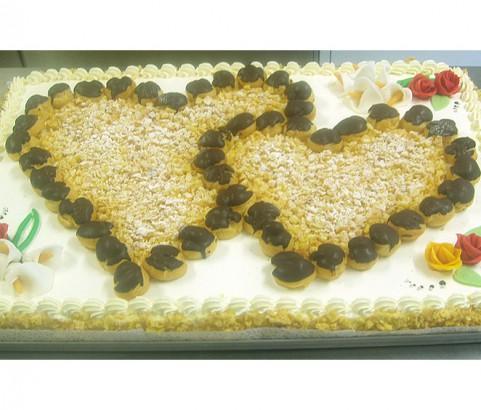 Flocken-Hochzeitstorte Bäckerei Burgauner