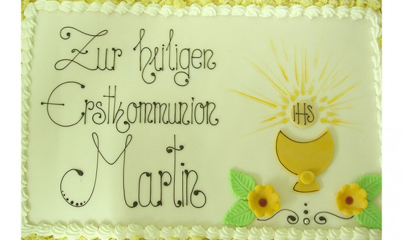 Flockentorte zur Erstkomunion Bäckerei Burgauner