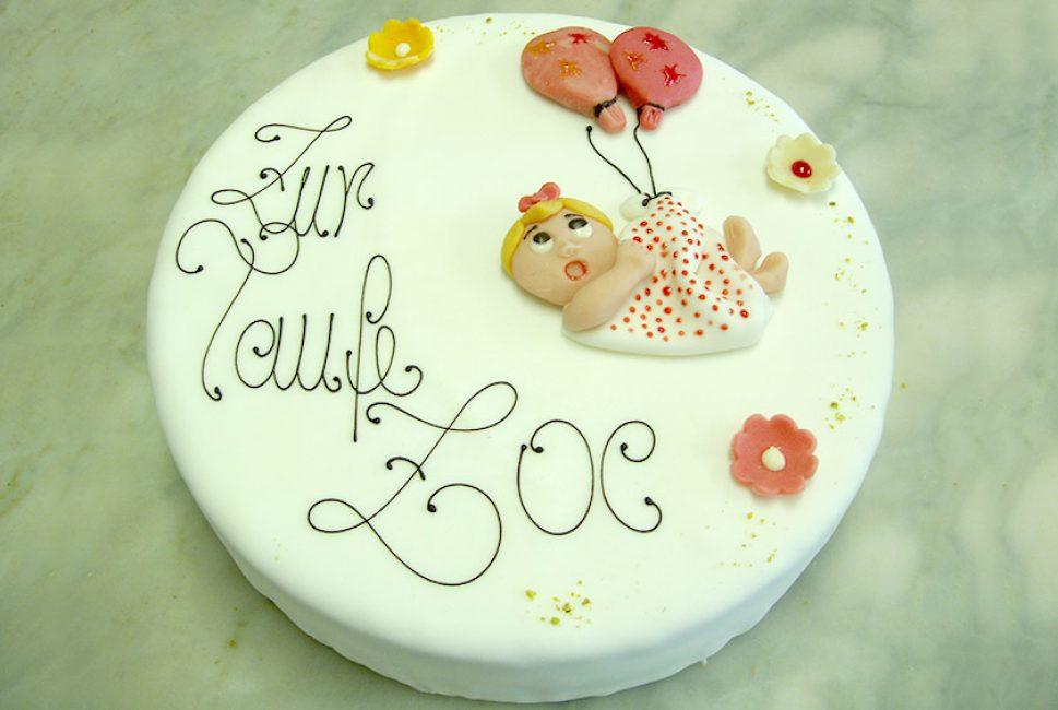 Torte Zur Taufe Bäckerei Konditorei Burgauner